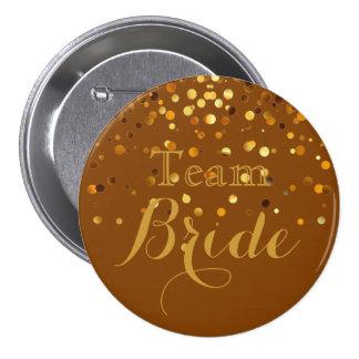 Falsa novia del equipo del boda de la hoja del chapa redonda de 7 cm
