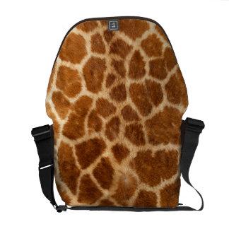 Falsa piel de la jirafa bolsas de mensajería