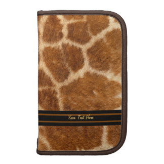Falsa piel de la jirafa planificadores