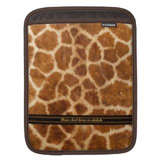 Falsa piel de la jirafa funda para iPads