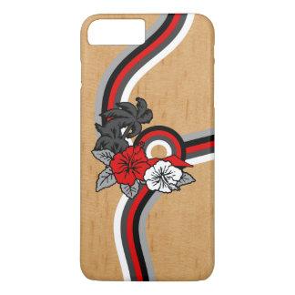 Falsa tabla hawaiana hawaiana de madera del safari funda iPhone 7 plus