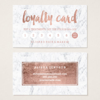 Falsa tarjeta color de rosa elegante de la lealtad