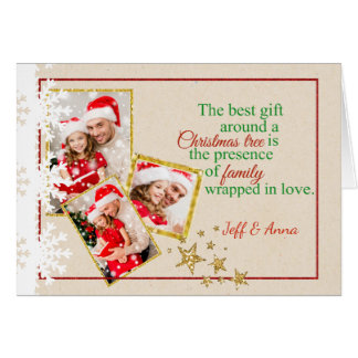 Falsa tarjeta de Navidad de la foto de la