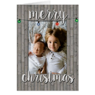 Falsa tarjeta de Navidad rústica del marco de la