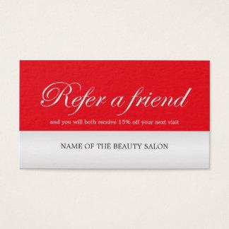 Falsa tarjeta de plata roja elegante moderna de la