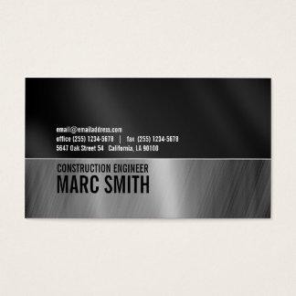 Falsa tarjeta de visita cepillada del metal