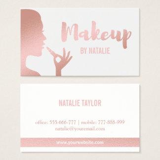 Falsa tarjeta de visita color de rosa del