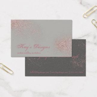 Falsa tarjeta de visita color de rosa del oro