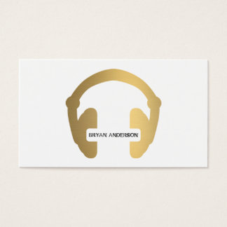 Falsa tarjeta de visita de DJ del auricular del