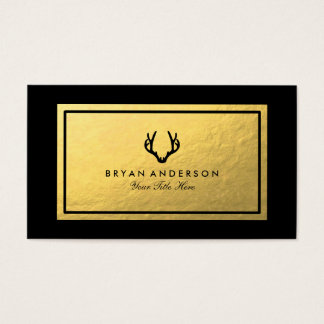 Falsa tarjeta de visita de la asta del oro