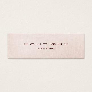 Falsa tarjeta de visita de lino rosa clara del