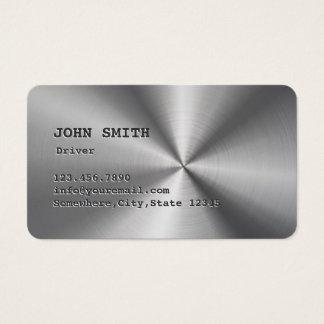 Falsa tarjeta de visita fresca del conductor del