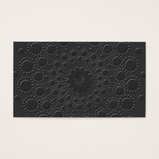 Falsa tarjeta de visita negra grabada en relieve