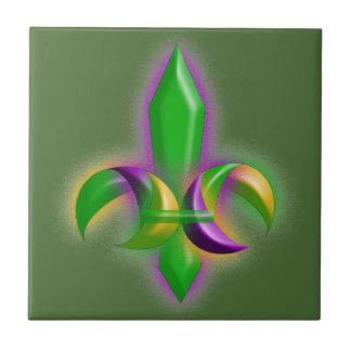 Falsa teja del verde del carnaval de la flor de