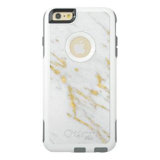 Falsa textura del mármol del oro funda otterbox para iPhone 6/6s plus