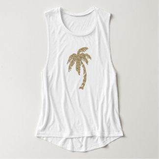 Falsas camisetas sin mangas elegantes del blanco