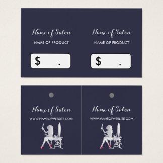 FALSAS etiquetas colgantes de plata de lujo del