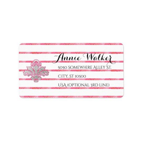 Falsas etiquetas de correo de plata de la etiquetas de dirección