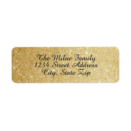 Falsas etiquetas de dirección del brillo del oro