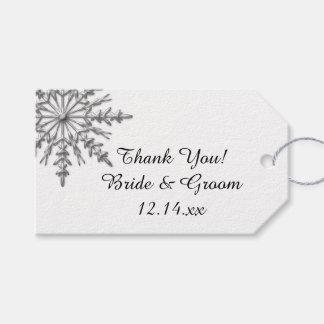 Falsas etiquetas de plata del favor del boda del