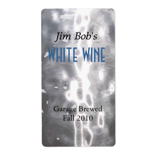 Falsas etiquetas hechas hogar martilladas del vino