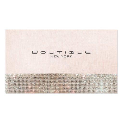 Falsas lentejuelas y boutique elegante rosado lind plantillas de tarjetas de visita