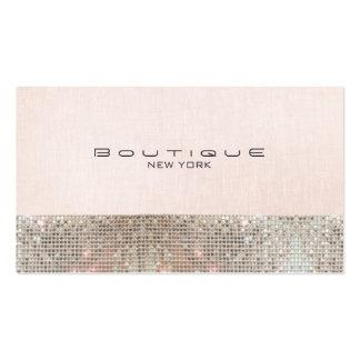 Falsas lentejuelas y boutique elegante rosado plantillas de tarjetas de visita