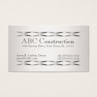 Falsas tarjetas de visita de plata de la manitas