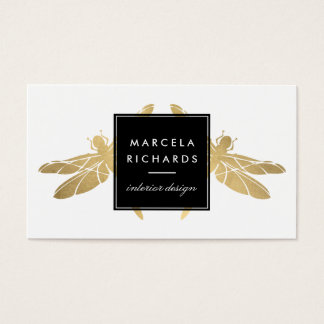 Falsas tarjetas de visita elegantes del dúo de la
