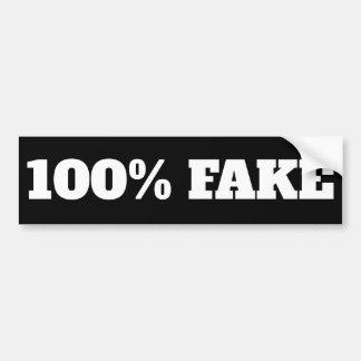 Falsificación del 100% - negro del pegatina