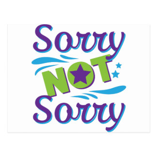 Falsificación loca de la disculpa no triste de la postal