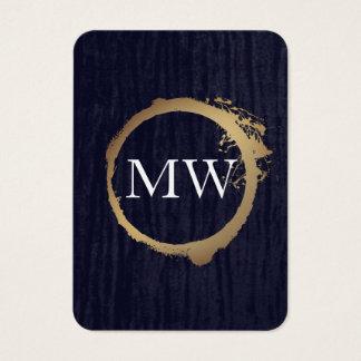 Falso azul metálico del terciopelo del oro con el tarjeta de visita