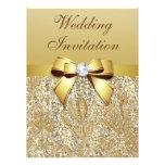 Falso boda de las lentejuelas y del arco del oro comunicados personalizados