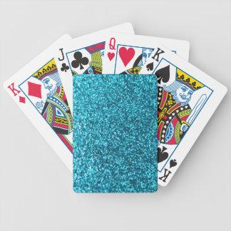 Falso brillo azul baraja de cartas bicycle