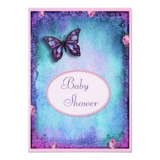 Falso brillo de la fiesta de bienvenida al bebé, invitación 12,7 x 17,8 cm
