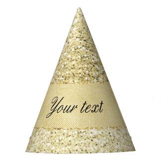 Falso brillo de lujo del oro personalizado gorro de fiesta