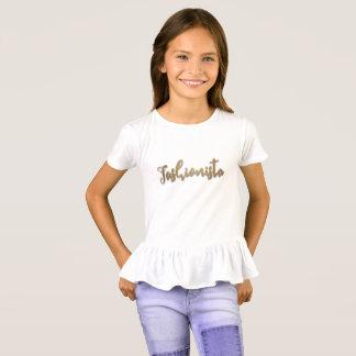 Falso brillo del oro, fashionista camiseta