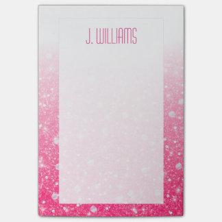 Falso brillo rosado para las mujeres y los chicas notas post-it®