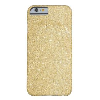 Falso caso del iPhone 6 del brillo del oro Funda De iPhone 6 Barely There
