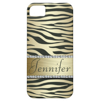 Falso caso Jeweled elegante del iPhone del estampa iPhone 5 Cobertura