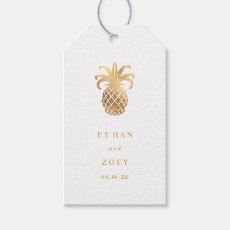 Falso color del oro Pineapples/DIY de PixDezines Etiquetas Para Regalos