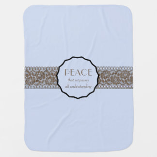 Falso cordón de la paz cristiana mantita para bebé