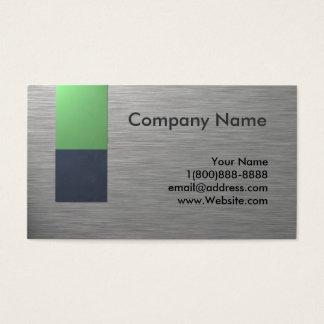 Falso diseño de la tarjeta de visita del metal