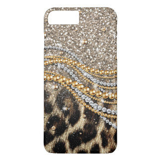 Falso estampado de animales del leopardo de moda funda para iPhone 8 plus/7 plus