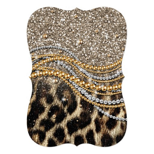 Falso estampado de animales del leopardo de moda h anuncios personalizados