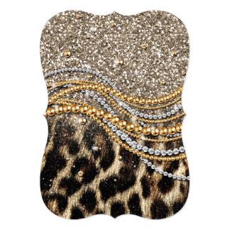 Falso estampado de animales del leopardo de moda