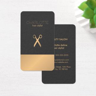 Falso estilista gris de cobre elegante elegante tarjeta de negocios