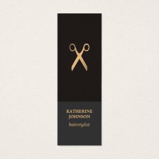Falso estilista oscuro elegante elegante simple tarjeta de visita mini