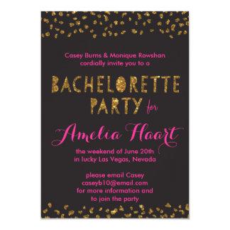 Falso fiesta de Bachelorette del estampado de Invitación 12,7 X 17,8 Cm