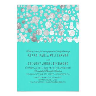 Falso fiesta de compromiso del trullo del confeti invitación 12,7 x 17,8 cm